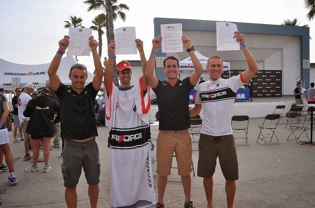 TriForce at Oceanside 70.3: 4 World Championship Qualifiers, a Podium, 3 top 10s (and an 11th), 6 sub 5s (and a 5:00:11), 8 PRs, Club Champions!
